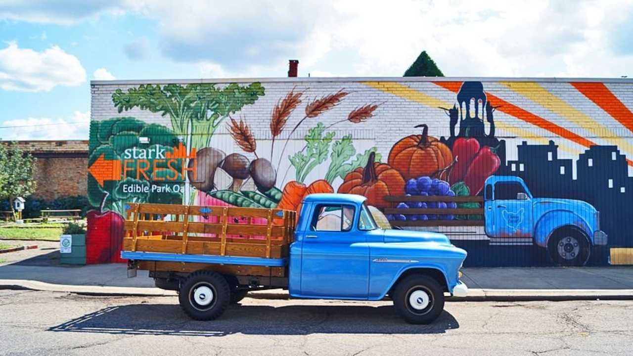 1955 Chevy 3600 3/4 Ton Stake Bed Wears Rugged Good Looks