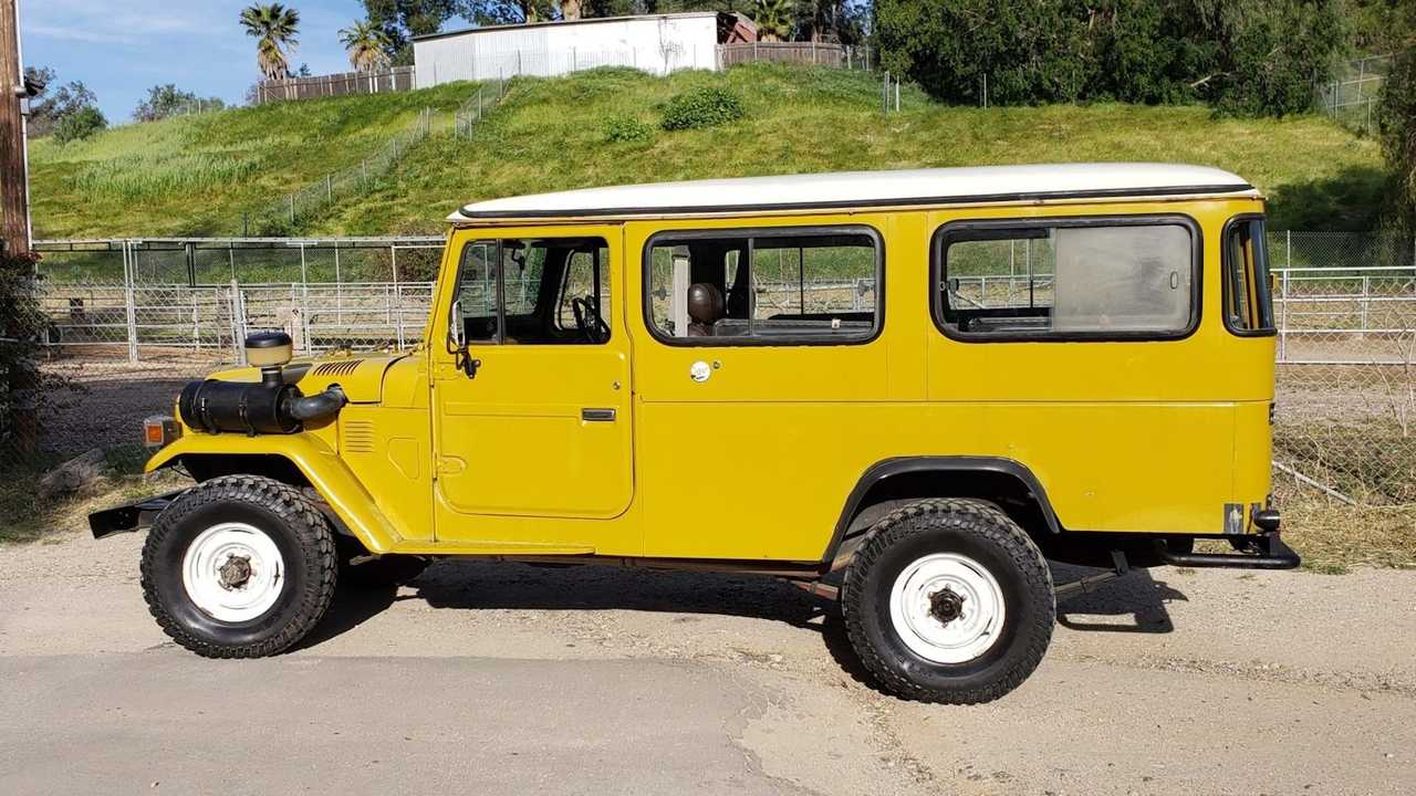 1979 Toyota Land Cruiser HJ45 With Pop Top Camper For Sale