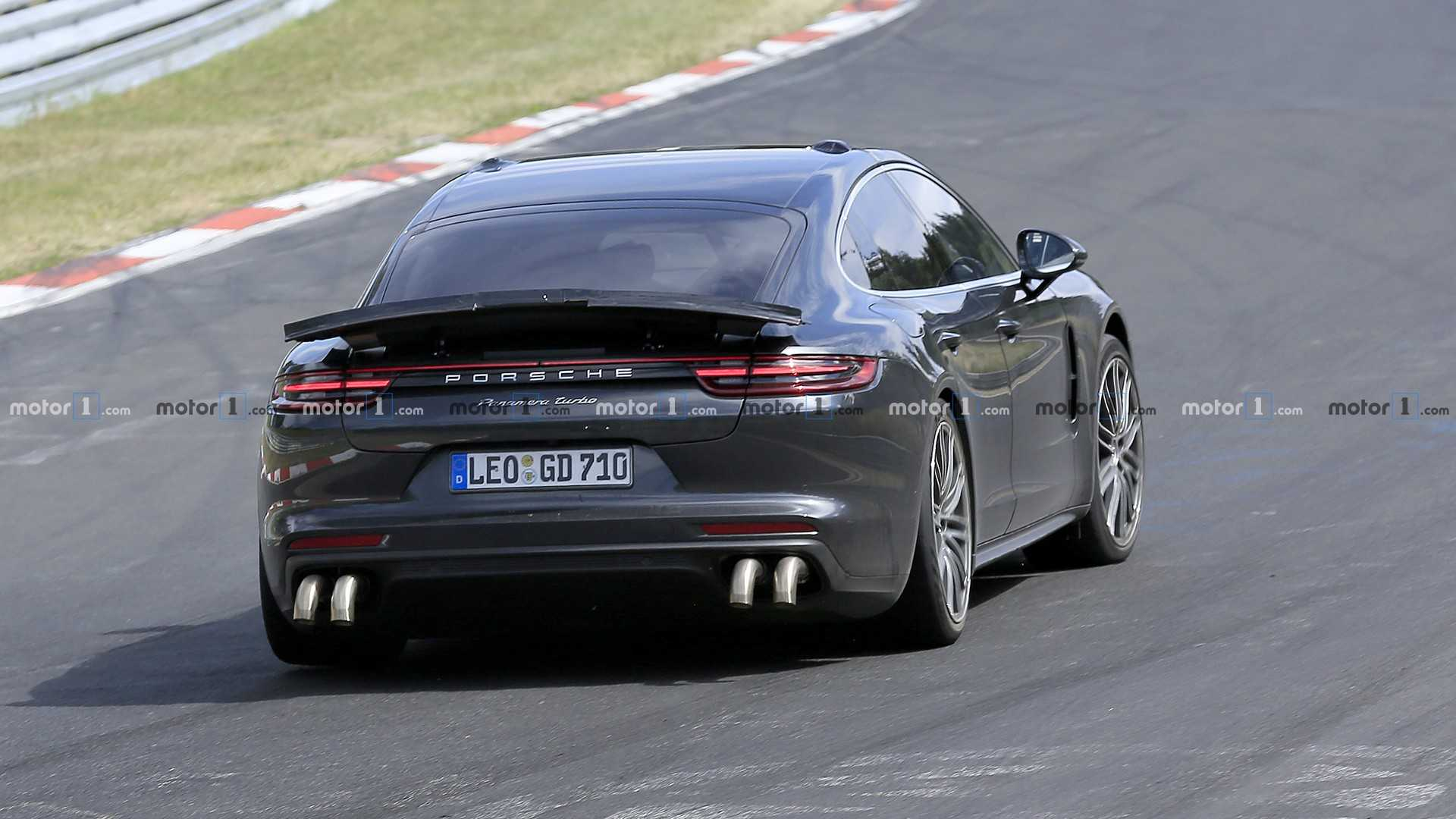 Porsche Panamera Spied With Long Exhaust Tips Could Pack 820 HP