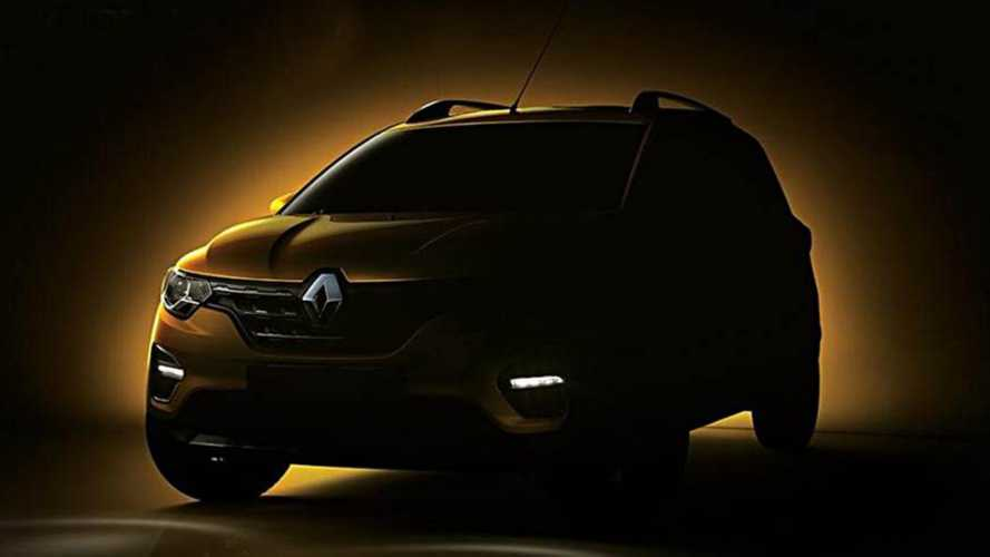 Renault Triber: minivan do Kwid mostra a dianteira
