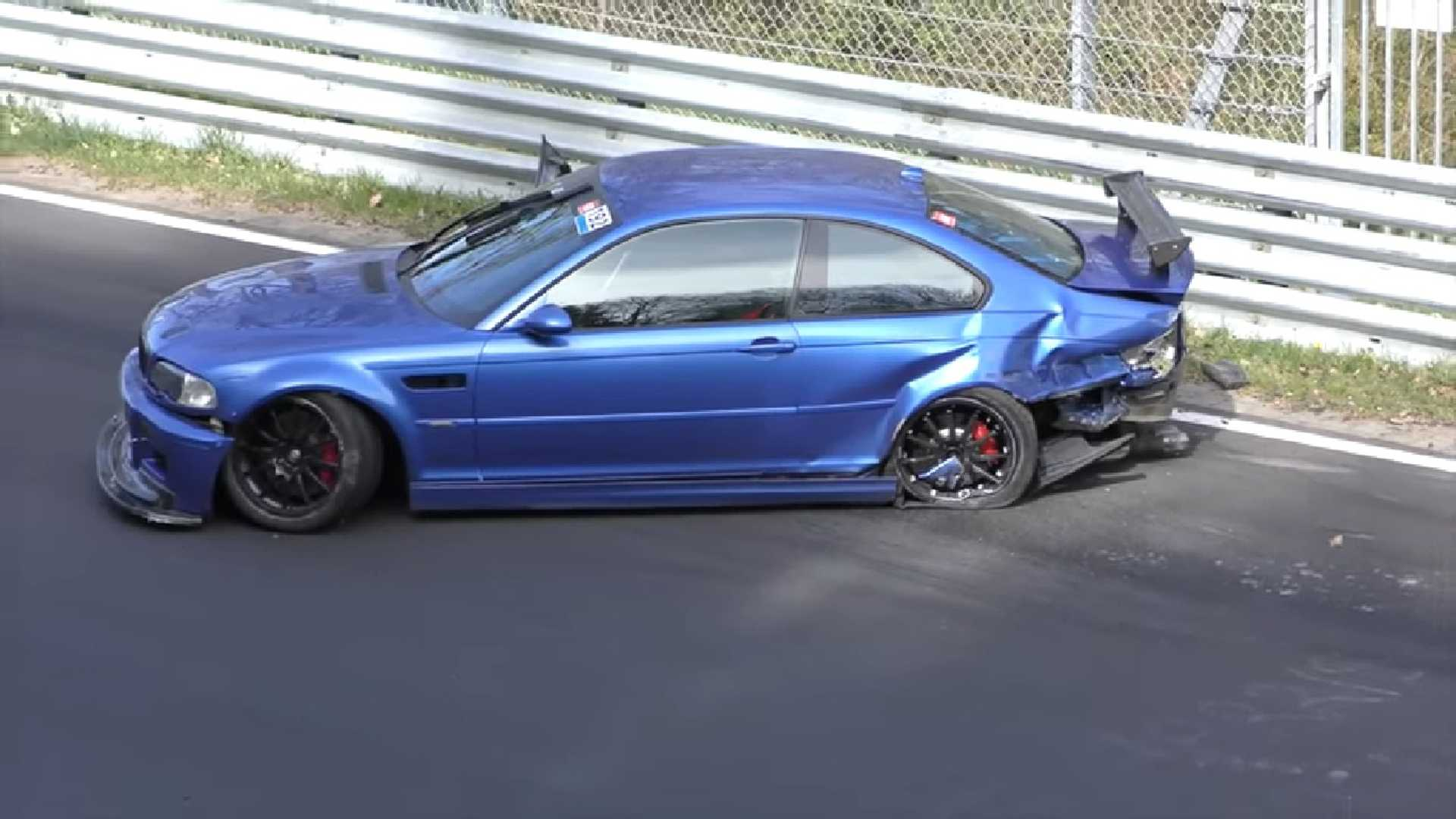 BMW E46 M3 >> Bmw E46 M3 Crashes Hard On The Nurburgring