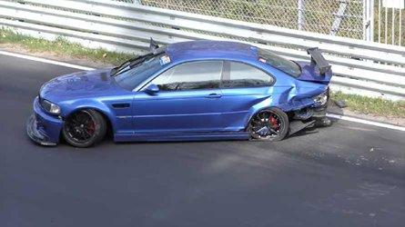 Bmw E46 M3 Crashes Hard On The Nürburgring