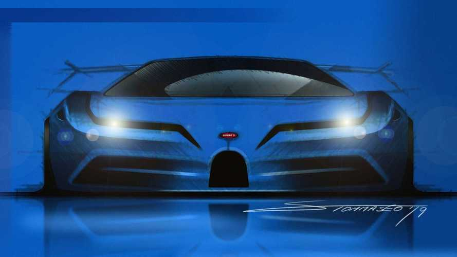 Bugatti EB110 Tribute als Rendering