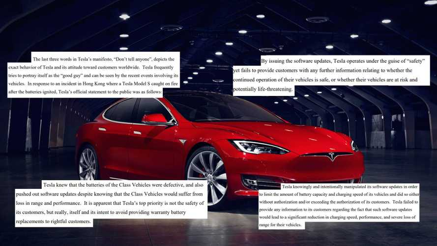 UPDATE: Class Action Suit Cites 19 Issues With Tesla Software Update
