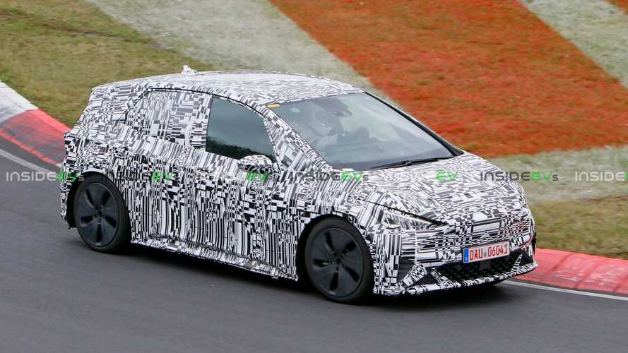Cupra El-Born hot hatch EV spotted high speed testing on the Nurburgring