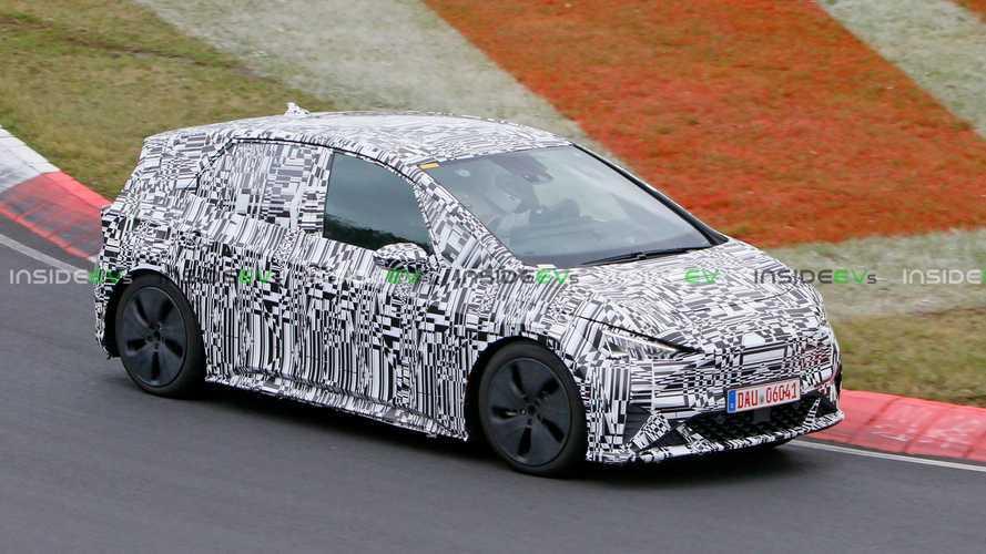 Cupra El-Born Hot Hatch EV Spotted High Speed Testing On The Nurburgring