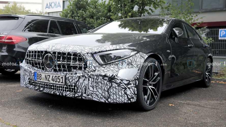 2022 Mercedes-AMG CLS 53 facelift spy photos