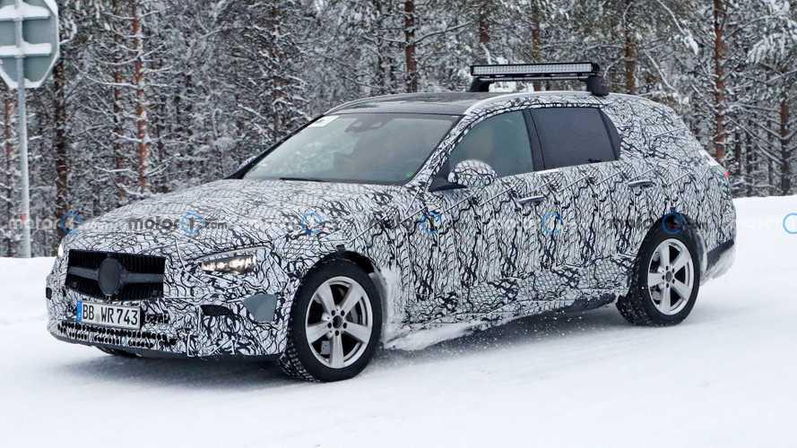 Mercedes C-Klasse T-Modell (2021) bei Wintertests erwischt