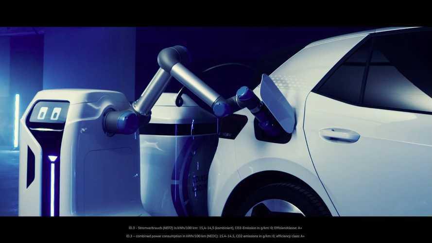 Volkswagen представил работающего робота-зарядчика