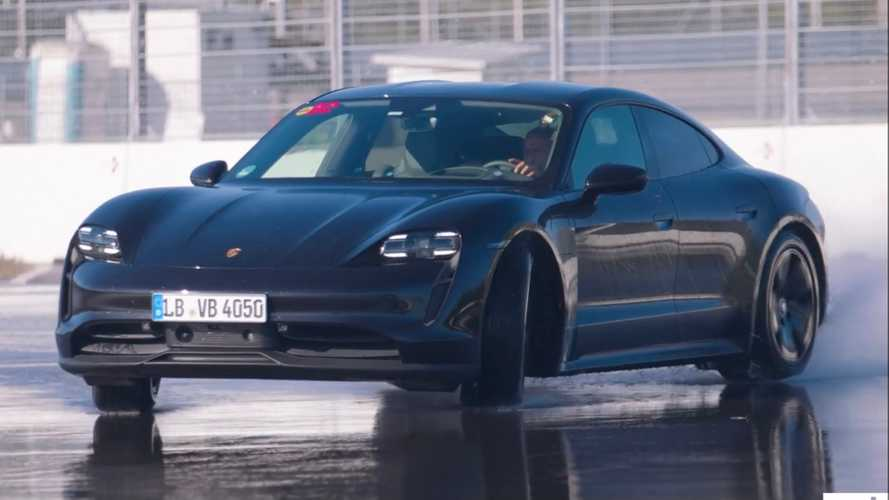 See Chris Harris try to set EV drift record in RWD Porsche Taycan