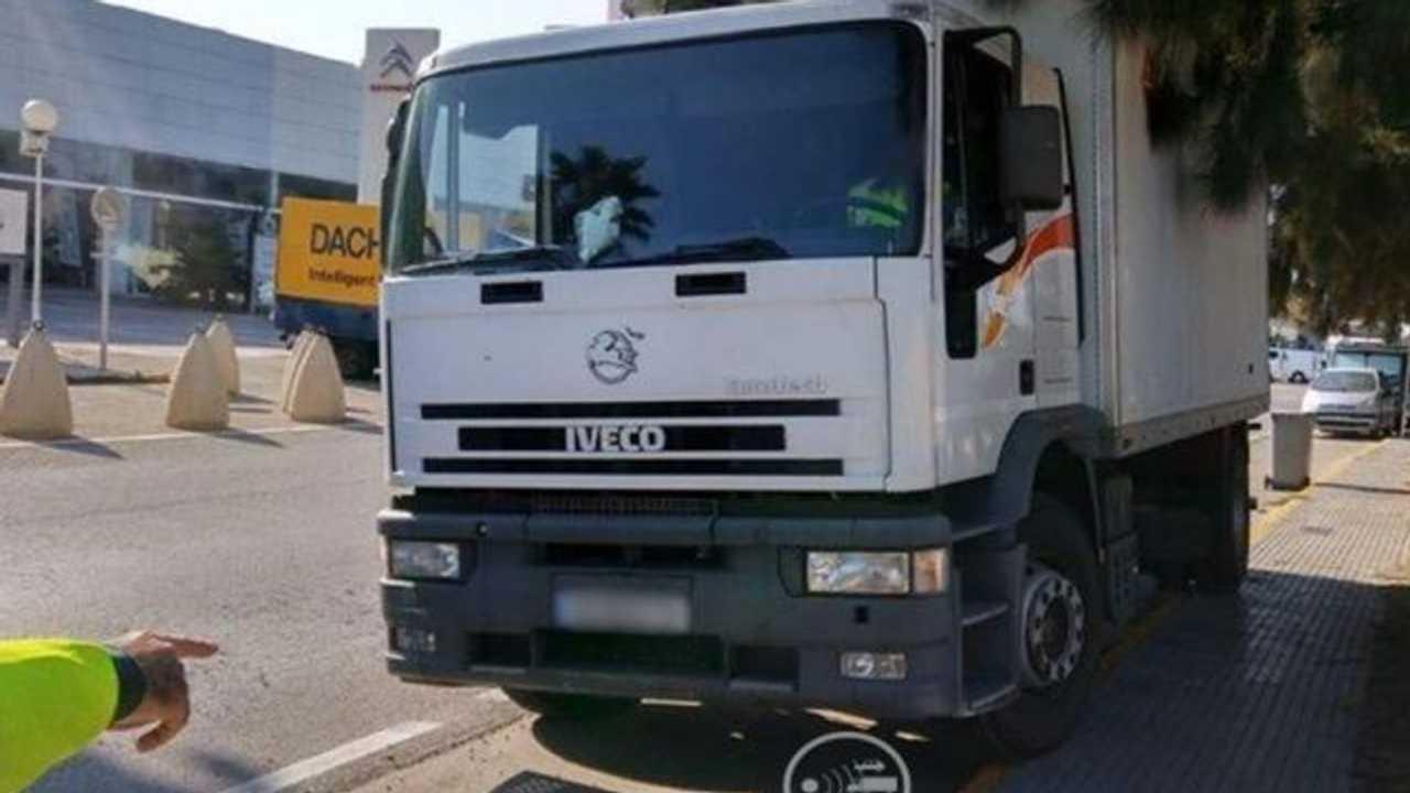 Camión con radar