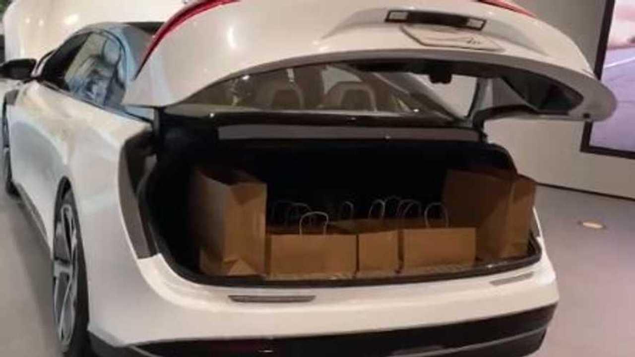 lucid air trunk