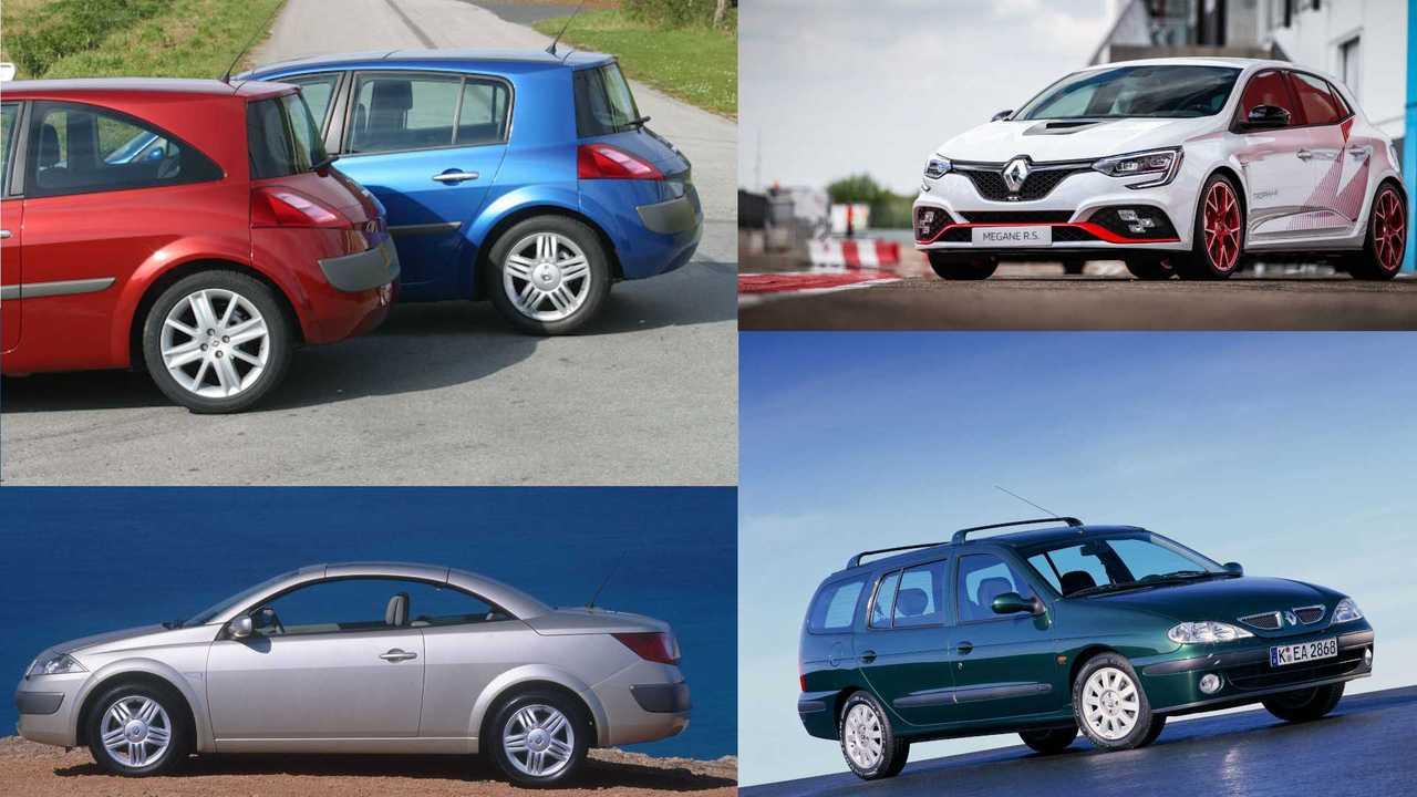 25 Jahre Renault Mégane (Collage)