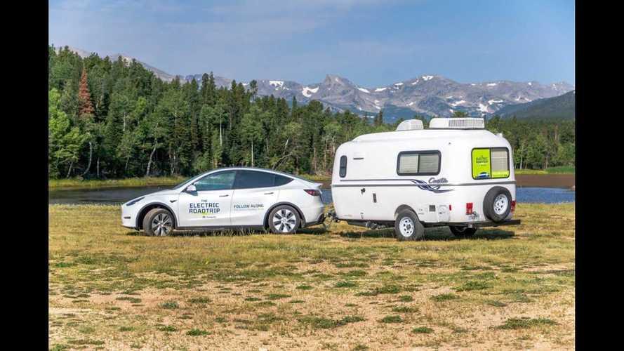 Tesla Model Y Tows Camper 1,400 Miles, Leaves Superchargers Behind