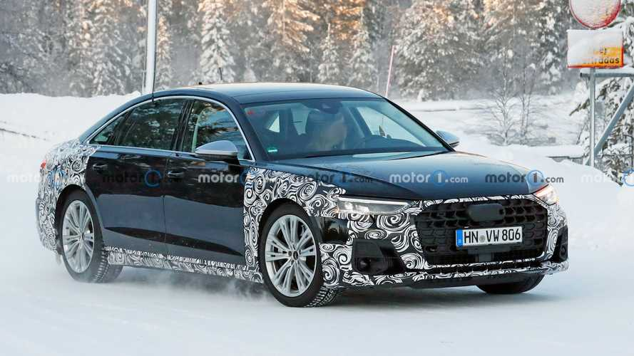 2022 Audi S8 Spied Sporting Quad Exhaust Tips, Little Camouflage