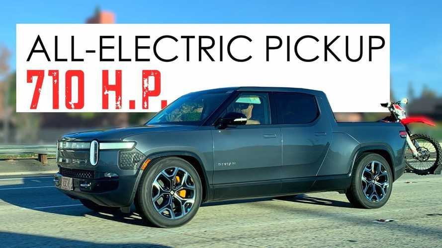 2021 Rivian R1T Electric Pickup Truck Spotted Out Testing