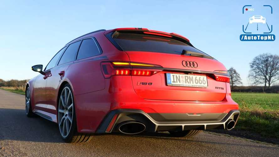 Audi RS6 With Bugatti Veyron Power Accelerates Like There's No Tomorrow