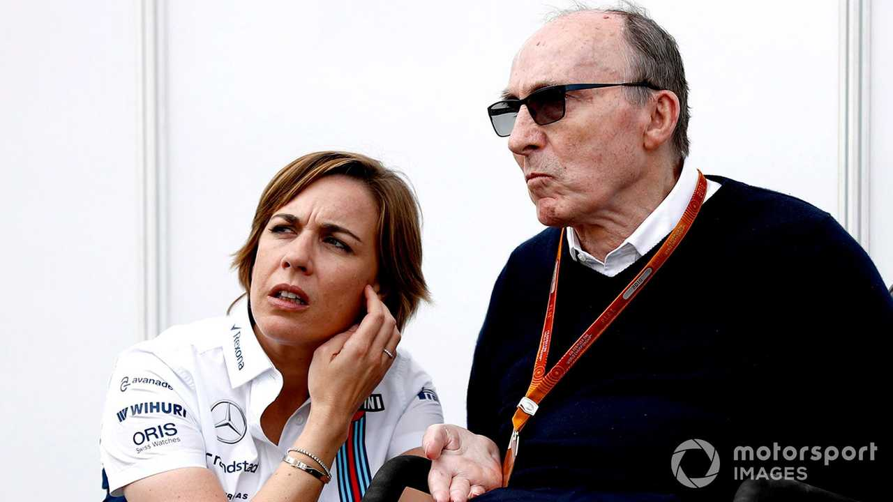 Claire Williams with father Sir Frank Williams at German GP 2016