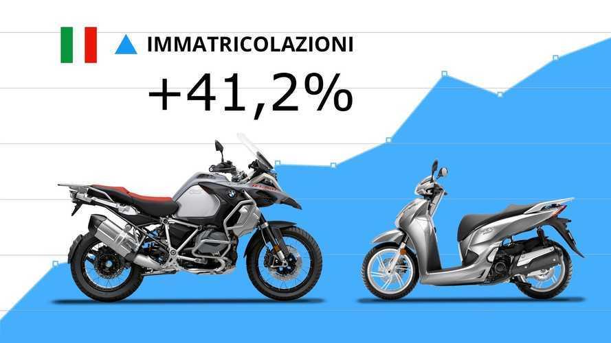 Mercato moto e scooter, ad agosto continua la crescita: +41,2%