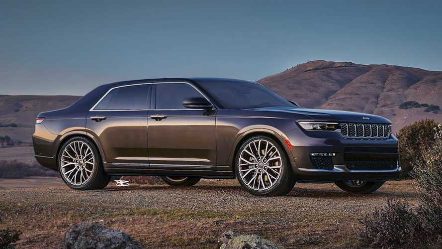 Jeep Grand Cherokee L Reimagined As Stately Sedan In Rendering Video