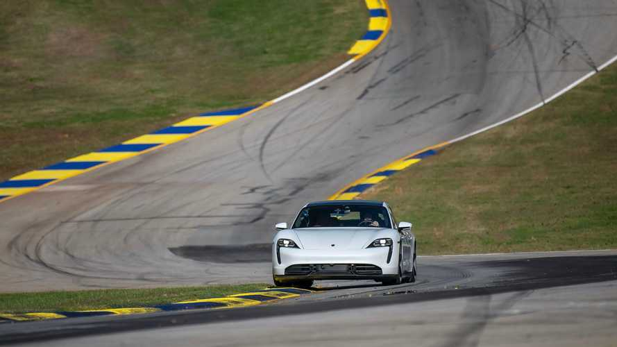 Porsche Taycan Turbo S at the Michelin Raceway Road Atlanta