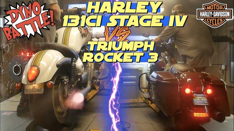 Dyno Battle: Harley-Davidson Road King 131 vs. Triumph Rocket 3