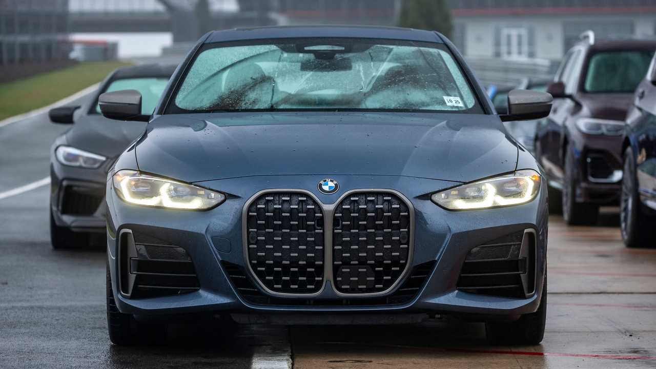 2021 BMW 4 Series head on parked