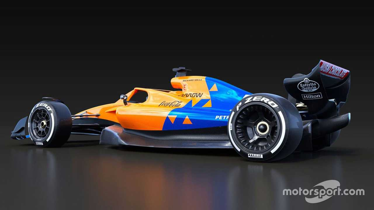 McLaren 2021 F1 car rules rendering
