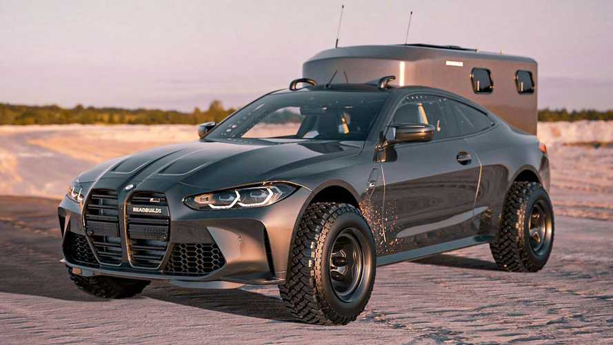 BMW M4 Baja overlander renderings make the big grille look better