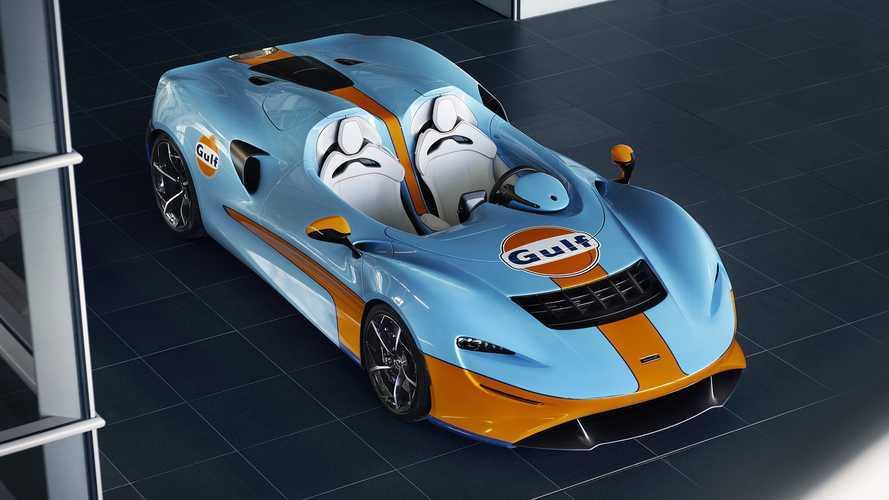 Impresionante el McLaren Elva con la decoración de Gulf