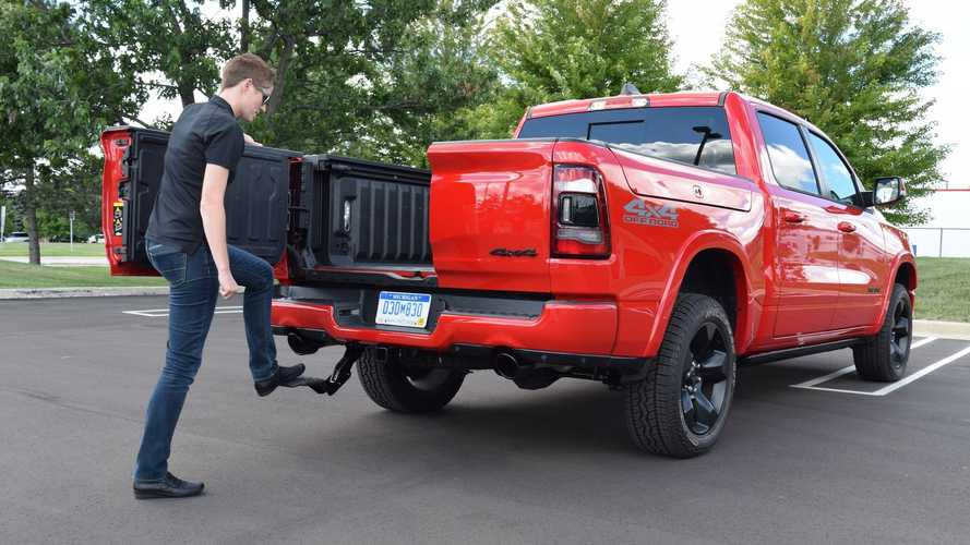 Ram Launches Retractable Center-Mounted Bed Step Option For Its Trucks