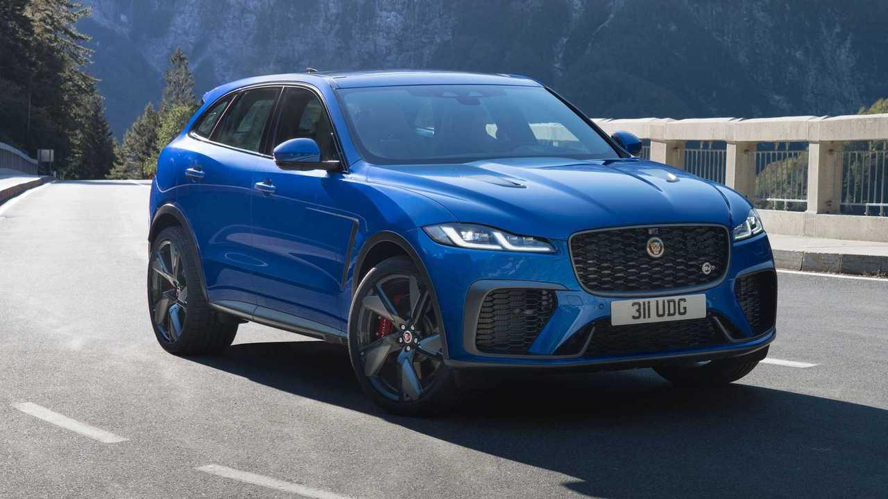 2021 Jaguar F-Pace SVR Drei Viertel