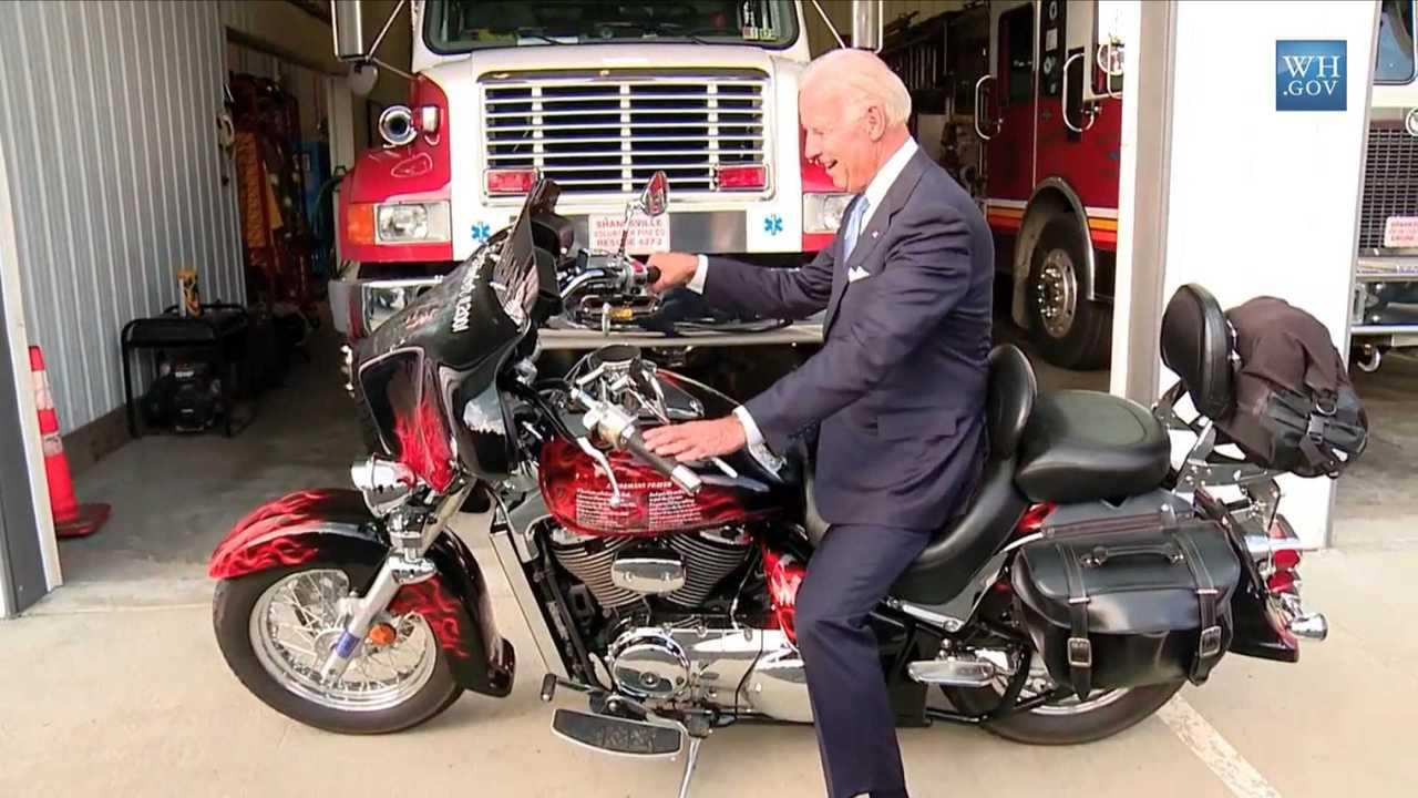 Joe Biden On Motorcycle