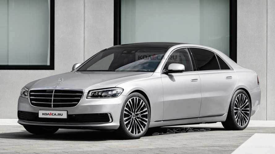 2021 Mercedes S-Class Fan Rendering Proposes W140 Design Cues