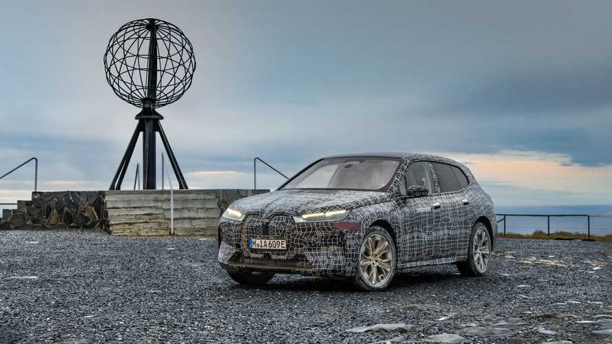 BMW iX winter testing
