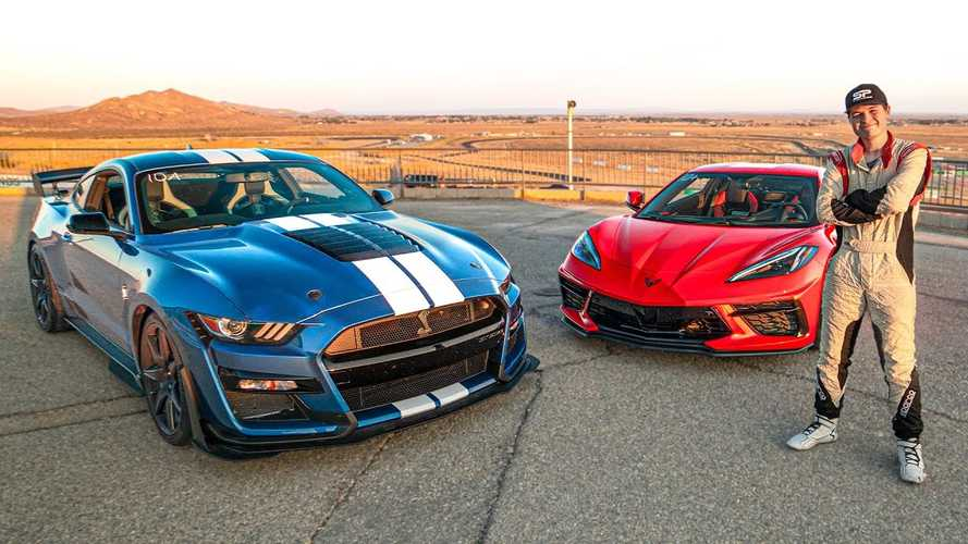 Owner Compares Lap Time Of New Shelby GT500 And His Corvette C8