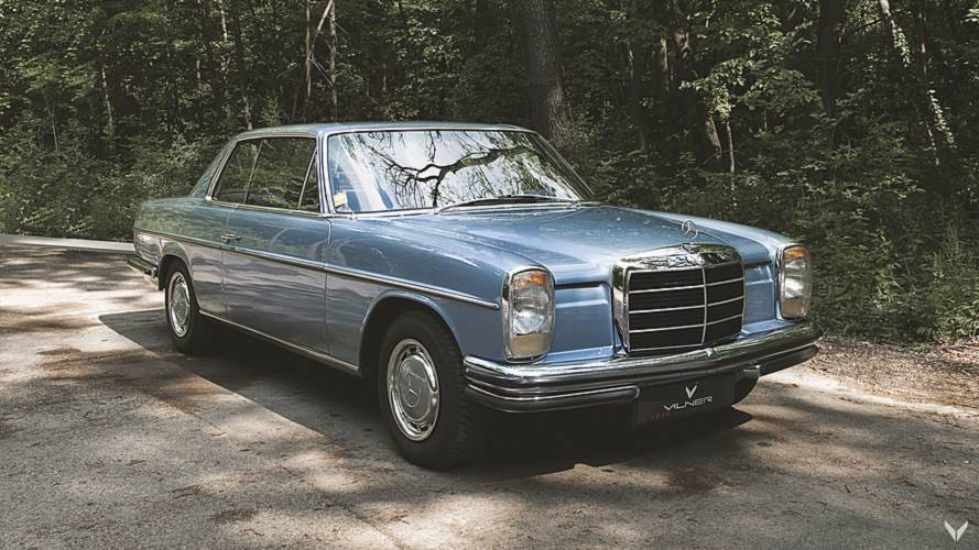 This wood-filled Mercedes 250CE is shrouded in mystery