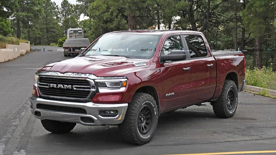 2020 Ram Rebel TRX Test Mule Spied With A Shrieking Hellcat V8