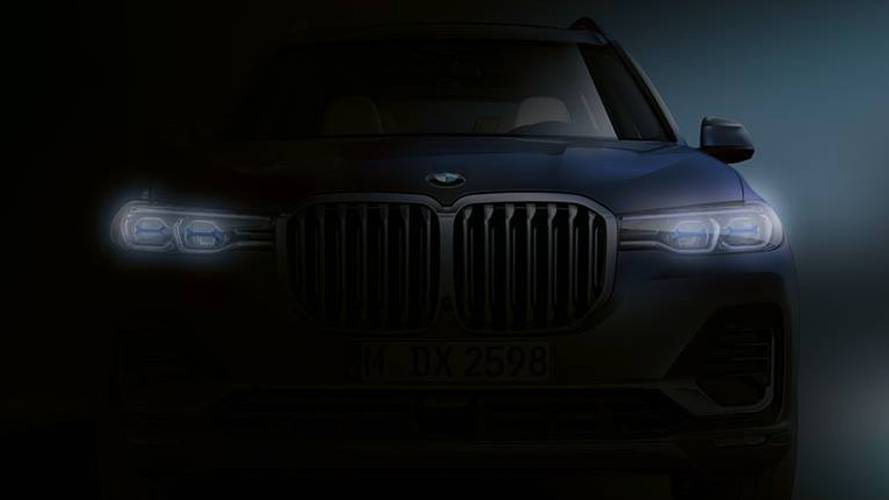 BMW X7 teases its fire breathing kidney grille