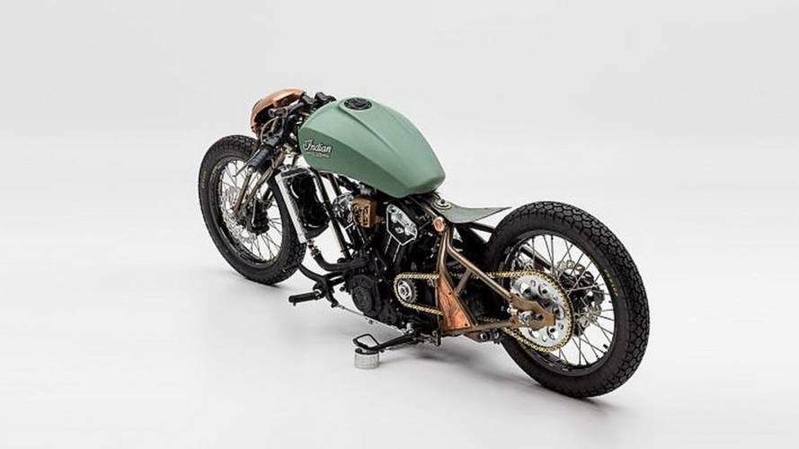 "Indian ganadora del ""The Wrench: Scout Bobber Build Off"" 2018"