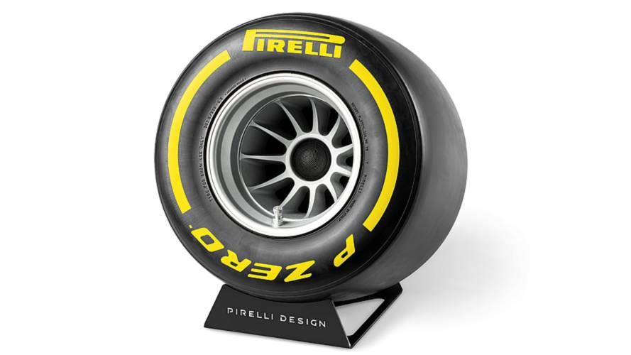 Pirelli Design Launches Bluetooth Speaker That Looks Like F1 Wheel