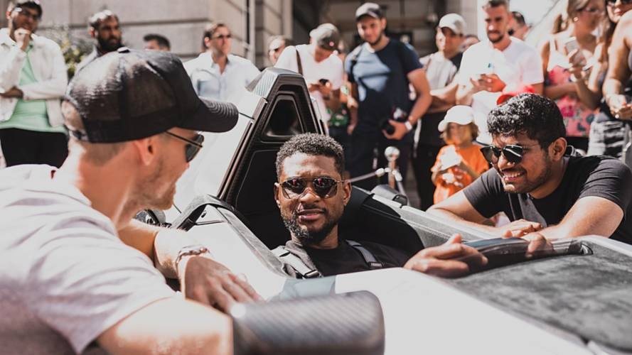 Usher takes on the Gumball 3000 in a BAC Mono