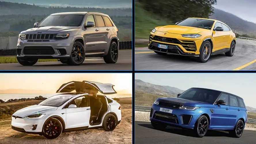 Los 10 SUV más potentes del mercado