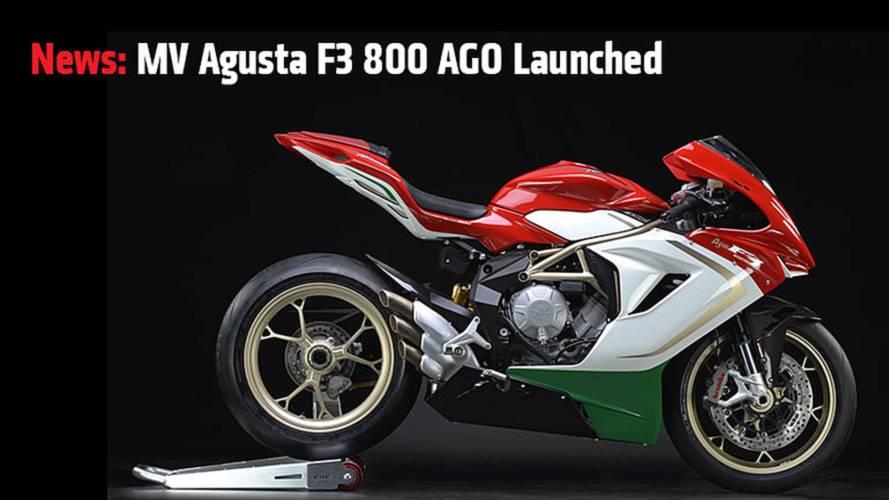 News: MV Agusta F3 800 AGO Launched