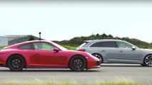 audi rs4 porsche 911 gts drag race