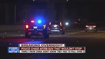 Honda CR-V police chase