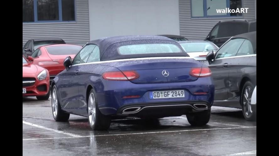 Mercedes C Class Cabriolet kamuflajsız görüntülendi