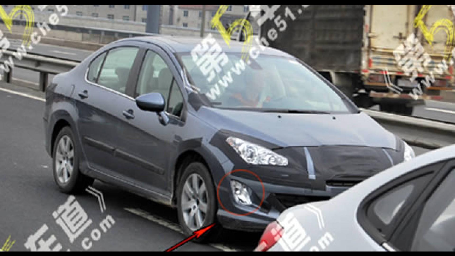 Novo Peugeot 308 Sedan  U00e9 Flagrado Na China