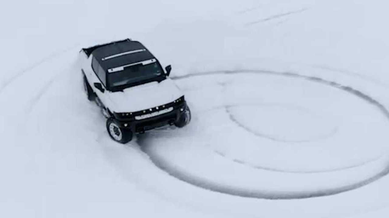 Hummer EV Snow Video