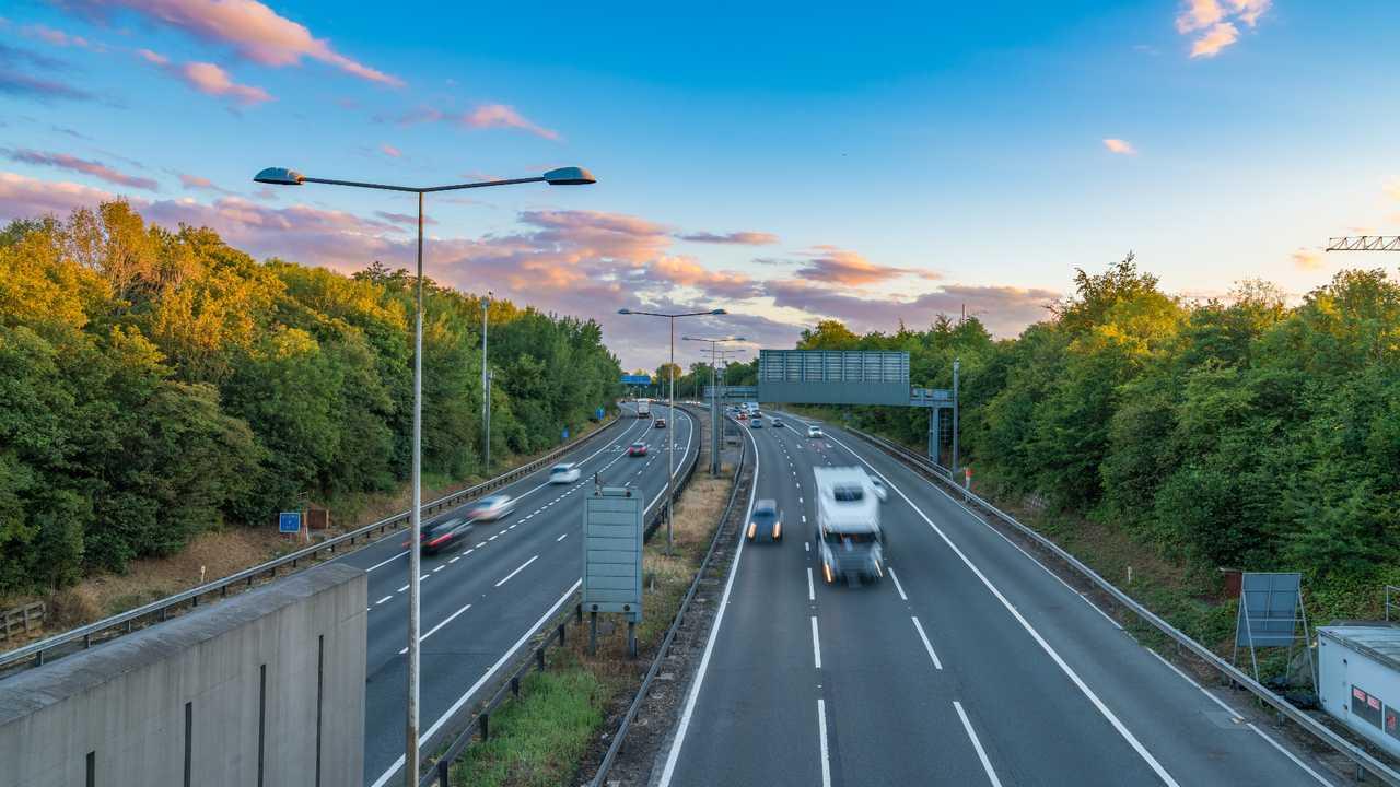 A1(M) motorway near Hatfield junction UK